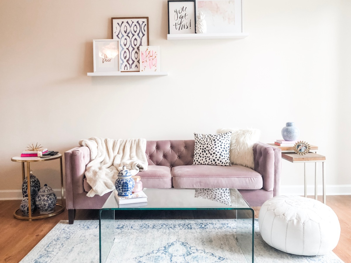 How to Rock a Blush Velvet Couch